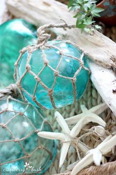 I love this tutorial because it saves you so much money! Glass Buoys look stunning as Nautical table centerpieces at Weddings and receptions and even as Nautical photo backdrops but they are so exp…