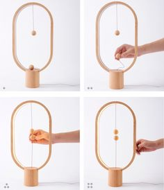 This lamp is breaking away from traditions, with a switch in mid-air. Its unique design brings magic into your life.