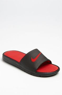 Nike 'Benassi Solarsoft' Slide - Comfy and wear anywhere.  My first pair of slides, love em!