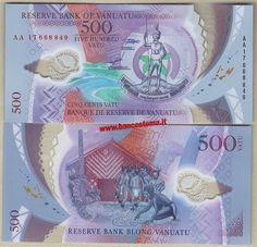 Vanuatu 500 Vatu 2017 unc polymer