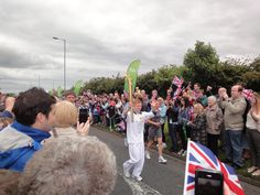 The Olympic Torch Relay as it passes through my old home town of Billingham 17th June