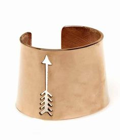House Of Harlow 1960 Arrow Cut Out Cuff In Rose Gold