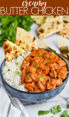 This Butter Chicken Recipe is so easy and so delicious.  It is the perfect weeknight meal. Better than take out, you will love making this Indian Butter Chicken at home!