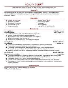 Security Officer Resume Sample Resume Skills Examples List  Sammie  Pinterest  Resume Skills