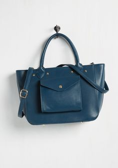It's Not Pocket Science Bag. Procuring the coolest ensemble adornment is as easy as snagging this blue bag! #blue #modcloth