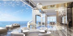 The penthouse at the Mansions At Acqualina, the immodestly named Palazzo D'Oro (translated to 'palace of gold'), hit the market yesterday for $55 million, a whole $5 million more than originally...
