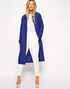 Image 1 ofASOS Duster Coat with Patch Pockets