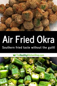 From The Air Fryer Bible cookbook this is one of the best air fryer vegetable recipes you ll find Air Fried Okra gives you all the flavor you crave with none of the guilt Check it out to discover southern fried taste the healthier way Air Fryer Recipes Meat, Air Fryer Recipes Vegetables, Air Frier Recipes, Air Fryer Dinner Recipes, Vegetable Recipes, Veggies, Air Fried Okra Recipe, Baby Okra Recipe, Eating Clean