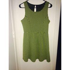 Yellow greenish dress Skater style dress great condition! Dresses