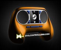 ValveSteamController-Orange #Steamcontroller #steammachine #steamOS #customSteamcontroller #moddedSteamcontroller #customcontrollers #moddedcontrollers