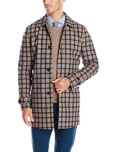 Ben Sherman Men's Check Wool Sartorial Car Coat, British Ochre, Large Ben Sherman ++ You can get best price to buy this with big discount just for you.++