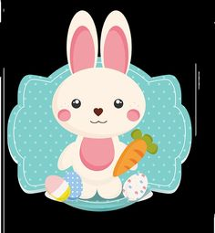 Conejo fondo azul