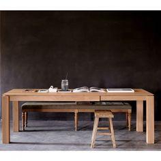 Ethnicraft Oak Slice Extension Dining Table 180cm
