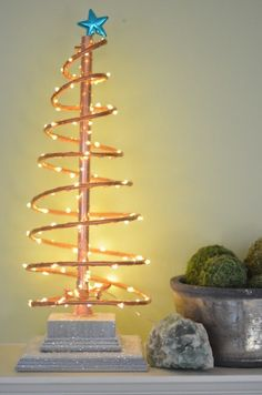 copper tree star