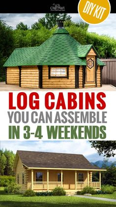 Choose from a few options of pre-built cabins to small log cabin kits that you'll be able to assemble in weeks saving on labor close to of the total cost. If you don't like Amish cabin kits th Small Log Cabin Kits, Tiny Log Cabins, Tiny House Cabin, Log Cabin Homes, Tiny House Plans, Tiny House Design, Prefab Cabin Kits, Small Home Kits, Yurt Kits