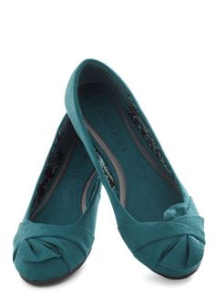 Steal Away Flat, #ModCloth- such a pretty shade of blue.