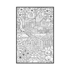 Detailed Coloring Pages For Adults | BackYard Animals and Nature Coloring Books/ Free Coloring Pages
