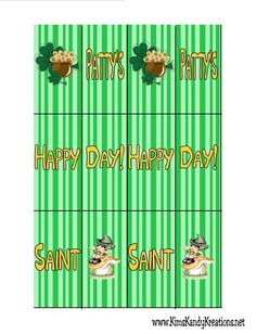 Kims Kandy Kreations: St Patricks Day Hershey Mini Wrapper Treat and Printable