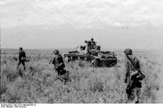 Waffen-SS infantry and armour advancing, Summer 1942