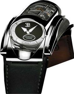 PF008222.01 Parmigiani Bugatti Type 370 Limited Edition 150 - швейцарские мужские часы наручные, золотые, черные - скелетон