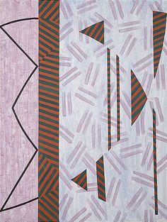 Mari Rantanen: Komposition, 1988, akryl, 200 x 150 cm