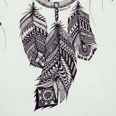 Details from my DreamCatcher drawing  #feather#DreamCatcher