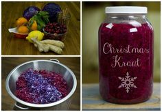 Christmas Kraut with Cranberries and Citrus