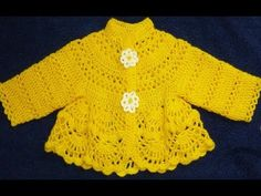 How to Crochet a Baby Sweater - YouTube