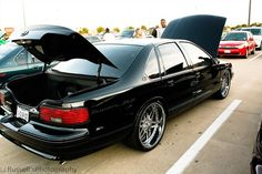 """96 Impala SS with some new 22"""" Asanti af116 chrome wheels 22x9 with 265/30/22 and 22x11 with 315/25/25 6 spoke"""