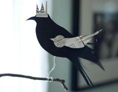 Blackbird King Perching Decoration by royalbuffet on Etsy