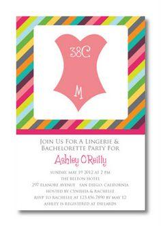 Lingerie & Bachelorette Party Invitation