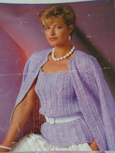 "Knitting Pattern Women Ladies Twin Set Cardigan And VestTop 4 Ply 32-38"" Vintage PDF by CraftybyLulu on Etsy"