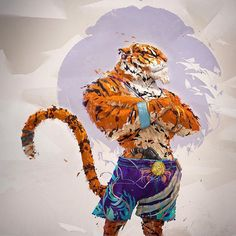5000 #artstation followers, Shere Kahn and myself humbly approve in collected silence. #me #art #tiger #animals #sherekhan #conceptart #photoshop #drawing #smile #character (presso Portugal Lisboa)