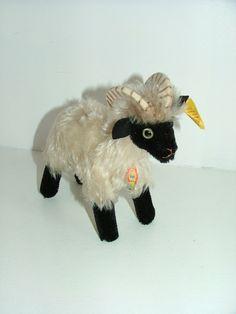 Vintage Steiff mountain sheep mohair soft toy teddy Snucki All IDs. $68.00, via Etsy.