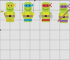 There is something oddly adorable about this TMNT pattern.