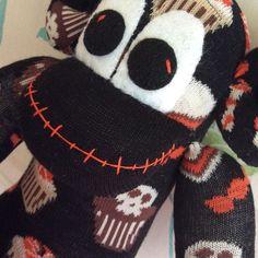 Mouth #Halloween #sockmonkey #spooky #fun #handmade #sewing #Sunnyteddys