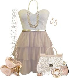 """""""Spring Trend - Feminine Frills"""" by candy420kisses ❤ liked on Polyvore"""