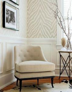 Papier peint zébré beige Margaux Interiors