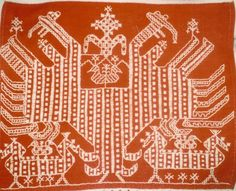 Detail of a Karelian ritual cloth Old Symbols, Moroccan, Florals, Stitches, Knot, Diy And Crafts, Ethnic, Folk, Weaving