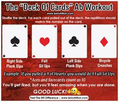 Deck of cards ab workout feel the bri difference Plyo Workouts, Lower Ab Workouts, Fun Workouts, Abs Workout For Women, Ab Workout At Home, Workout Abs, Card Workout, Workout Guide, Circuit Training Routines