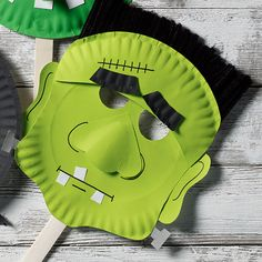 Craft Painting - Halloween Paper Plate Mask: Frankenstein's Monster a perfect project for kids!