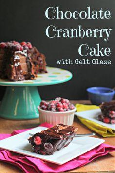 Chocolate Cranberry Cake with Gelt Glaze via What Jew Wanna Eat (I'm drooling!)