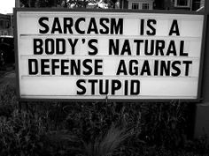 Sarcasm - sometimes you are my best friend.