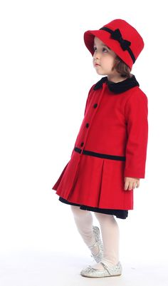 Ode to classic style! Coat & hat set, $49.99