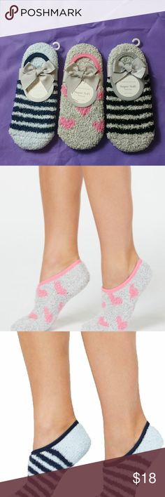 95 HUE Black Blue Cream Women/'s Butter Super Soft Cozies Socks One Size