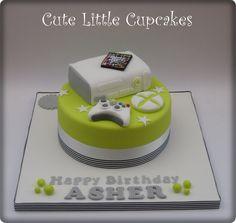 X Box Themed Birthday Cake Boys 18th Small Cakes