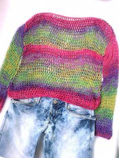 Rainbow ... háčkovaný svetrík by REJAdekor - SAShE.sk - Handmade Svetre/Pulóvre