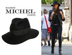 Famous MAISON MICHEL HENRIETTA HAT, Black as seen on Victoria Beckham SOLD OUT! #MaisonMichel