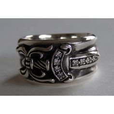 40b5027295c chrome hearts diamond dagger ring. Free shipping and guaranteed  authenticity on… Chrome Hearts