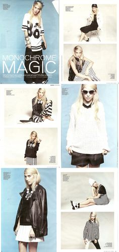 Monochrome Magic in More! Magazine styling by Kelly Elder, Photos by Christian Jensen, clothing featuring Urban Code, Estradeur & Topshop